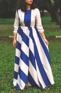 nautical maxi dress