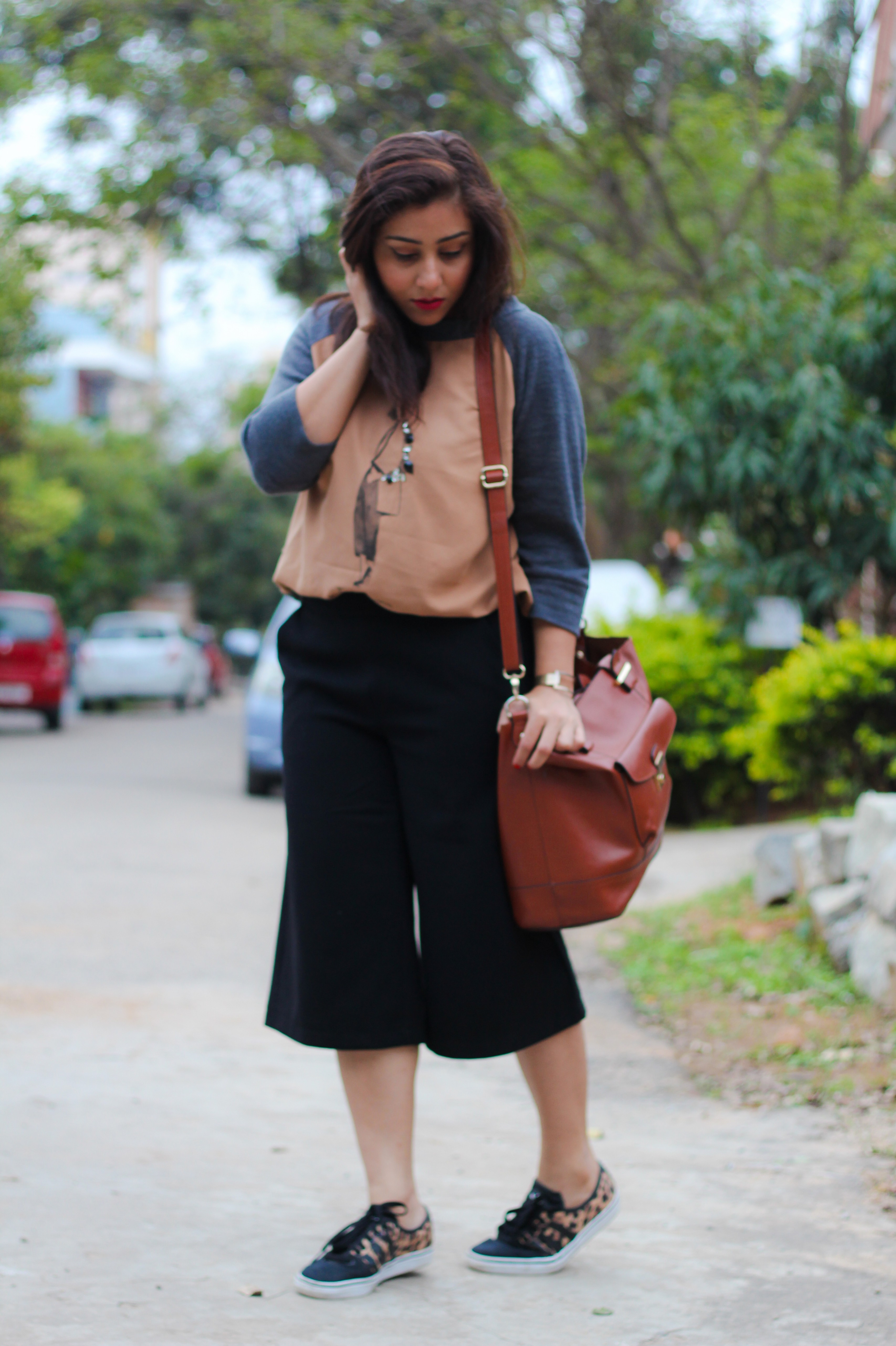 Casual way of styling Culottes