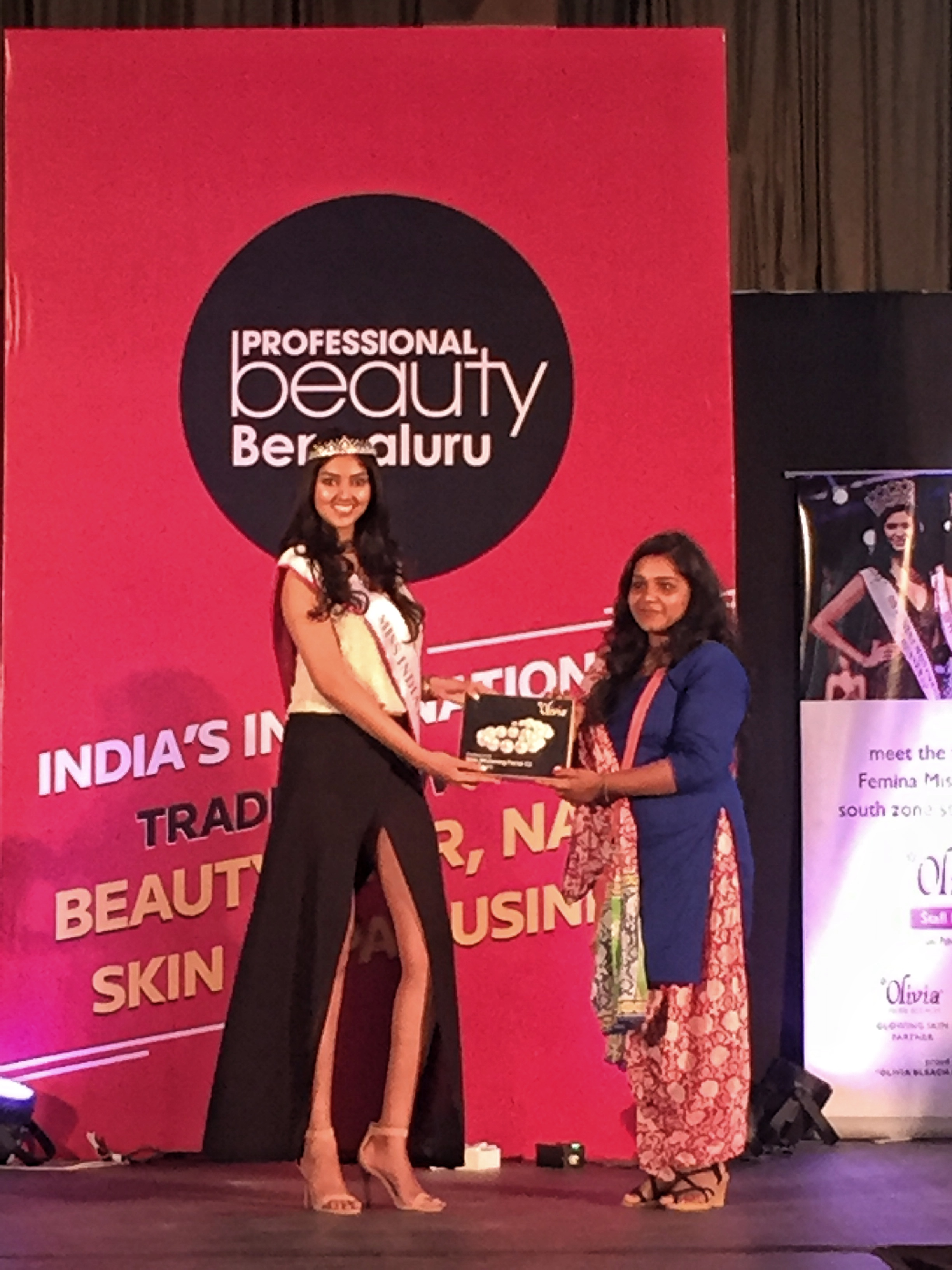 Femina Miss India and Olivia cosmetics