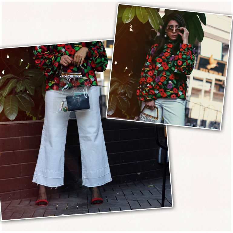 How to style white denim, Wide leg crop denim